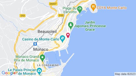 Fairmont Monte Carlo Map