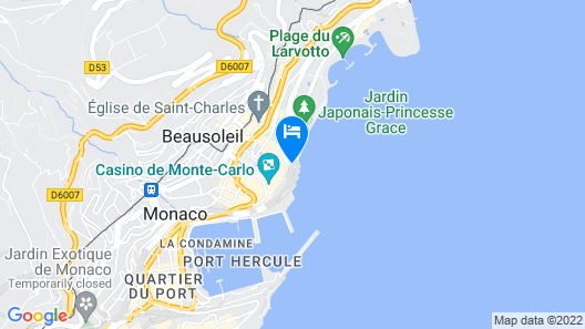 Fairmont Monte Carlo Map
