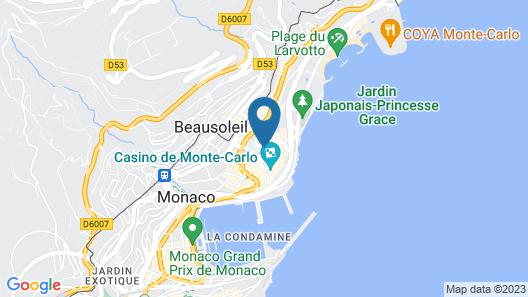 Hotel Metropole, Monte Carlo Map