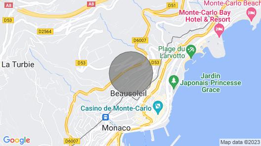 Luxury Riviera Palace - 180 ° Sea & Monaco View Map