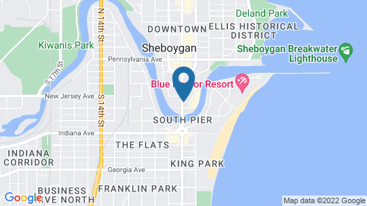 Harbor Winds Hotel Sheboygan Map