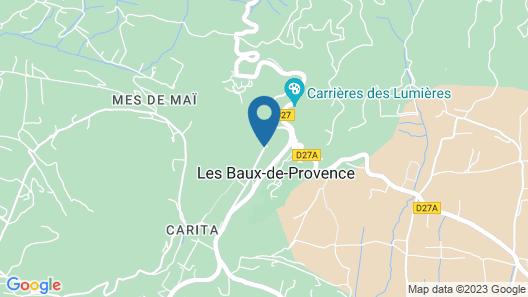 Les Baux de Provence: authentic house with view in Provence (Alpilles) Map