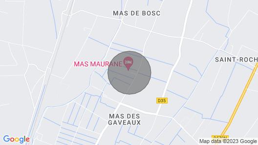 LE Bougainvillier, MAS Maurane, Tarascon Map