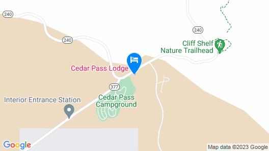 Cedar Pass Lodge Map