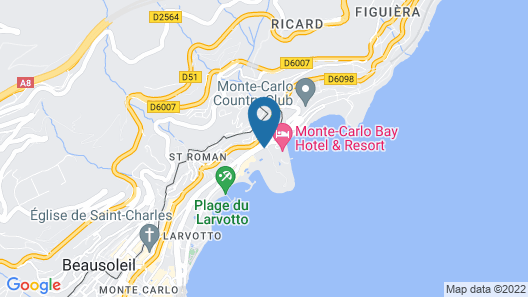 Monte-Carlo Bay Hotel & Resort Map