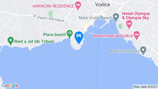 Hotel Villa Radin Map