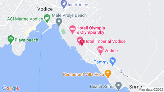 Hotel Imperial Vodice Map