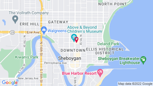 Grandstay Residential Suites Hotel - Sheboygan Map