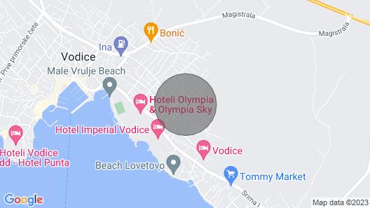 Apartments Vesna Map