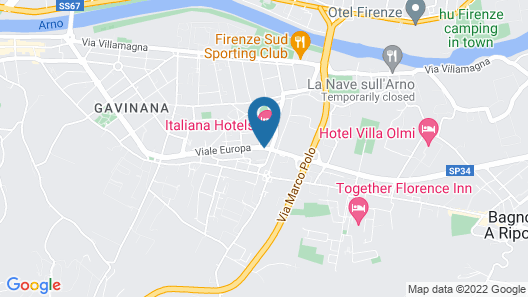 Italiana Hotels Florence Map