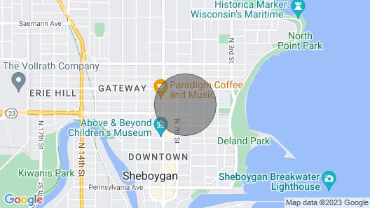 Updated Sheboygan Home W/porch<1 Mi to Beach Map