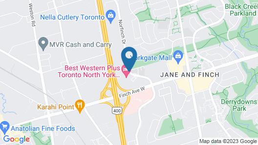 Comfort Inn Toronto North Map