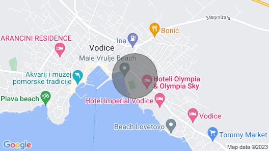 Holiday resort Matilde Beach Resort, Vodice Map