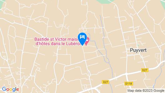La Bastide Saint Victor Map
