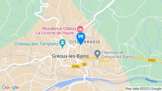 Hôtel - Résidence Lou Paradou Map