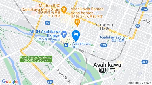 Y's HOTEL Asahikawa-Ekimae Map