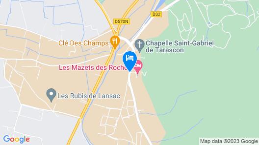 Les Mazets Des Roches Map