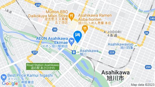 Hotel Wing International Asahikawa Ekimae Map