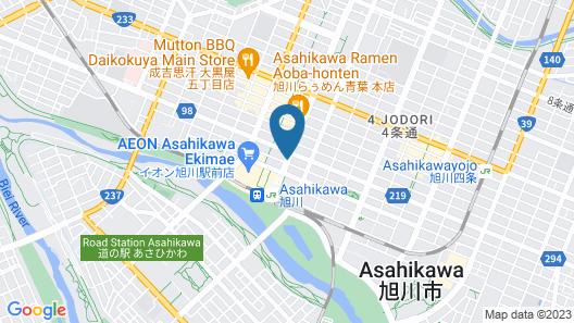 Court Hotel Asahikawa Map