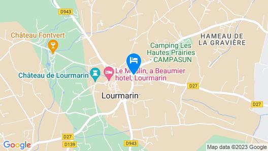 Hotel Bastide de Lourmarin Map