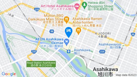 Premier Hotel -CABIN- Asahikawa Map