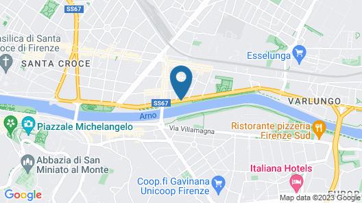 Hotel Ville sull'Arno Map