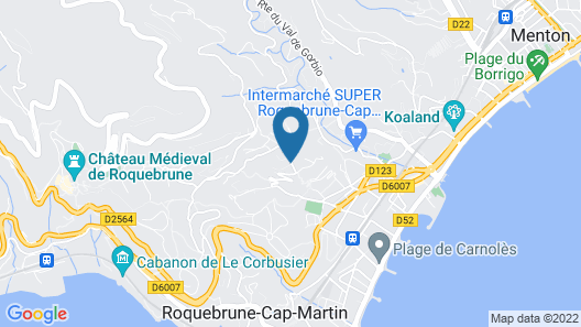 Azureva - Roquebrune Cap Martin Map