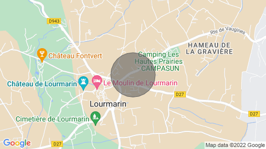 Villa Bastidon and Character With Pool 300m From the Center of Lourmarin Map