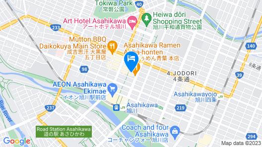 RHotels Inn Hokkaido Asahikawa Map