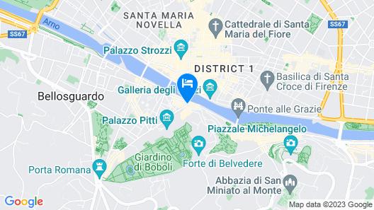 Hotel Pitti Palace al Ponte Vecchio Map