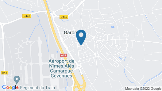 House With Calm and Bright Garden, Exit Motorway Airport Nîmes Garons Map