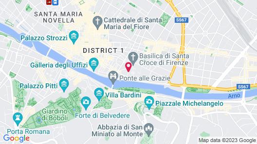 La Croce d'Oro - Santa Croce Suite Apartments Map
