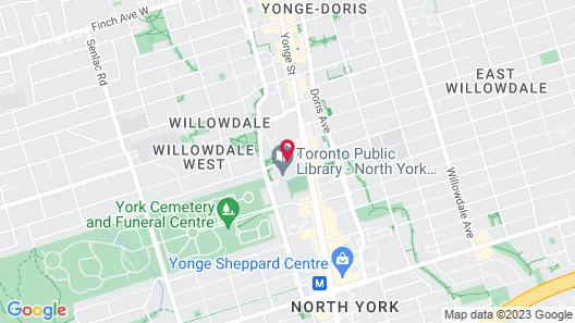 Novotel Toronto North York Map