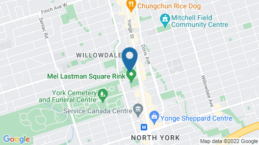 Novotel Toronto North York Map