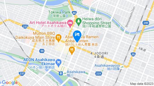 Hotel Crescent Asahikawa Map