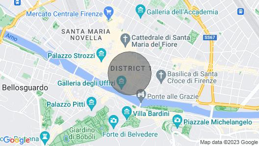 The Time Machine,next to Palazzo Vecchio Map
