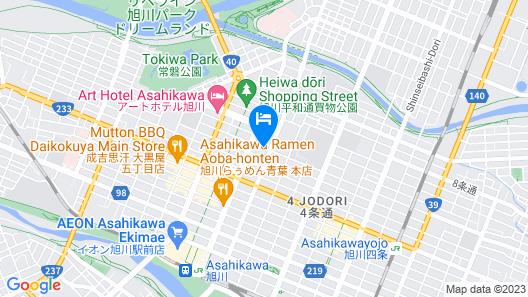 Hoshino Resorts OMO7 Asahikawa Map