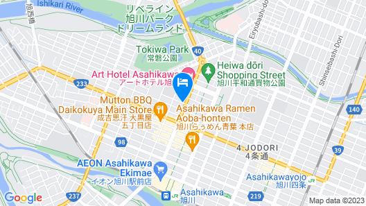 Dormy Inn Asahikawa Natural Hot Spring Map