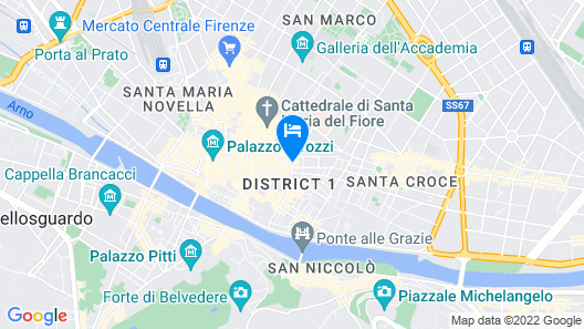 Grand Hotel Cavour Map