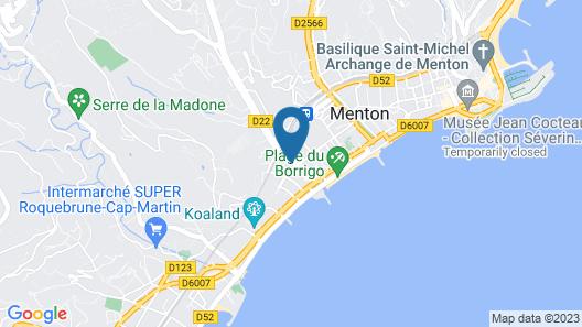Hotel Parisien Map