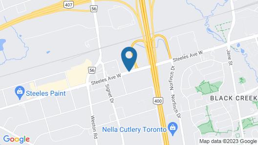 Staybridge Suites Toronto - Vaughan South Map