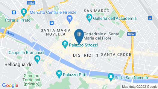 Hotel Villani Map