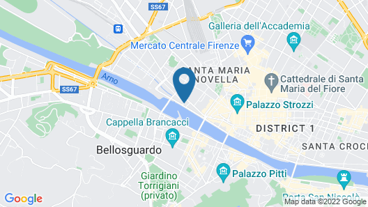 The St. Regis Florence Map
