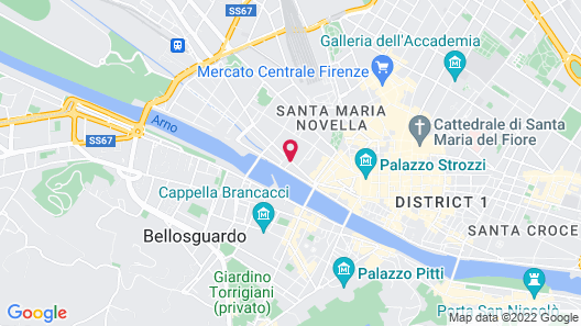 The Westin Excelsior, Florence Map