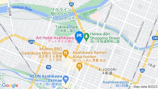 Art Hotel Asahikawa Map