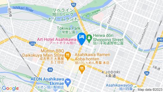 Asahikawa Toyo Hotel Map