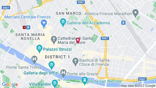 Hotel Monna Lisa Map