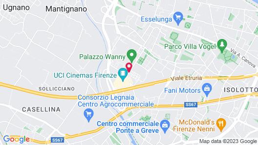 Hilton Florence Metropole Hotel Map