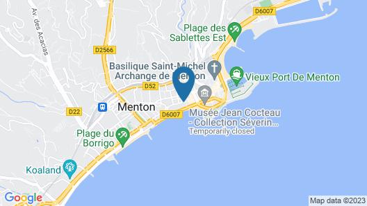 Hôtel Club Vacances Bleues Le Balmoral Map