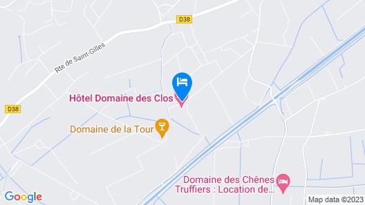 Hôtel Domaine Des Clos Map
